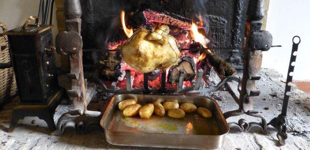 Cucinare sul girarrosto