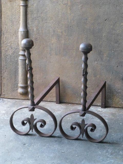 art nouveau haardijzers