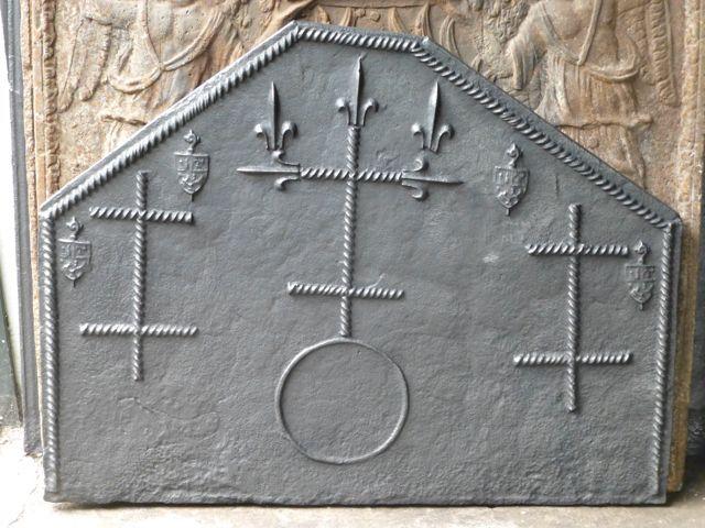 Franse gotische haardplaat