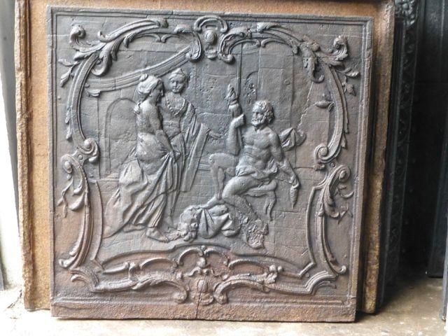Lodewijk 15 haardplaat