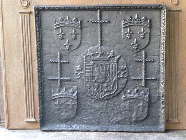 Renaissance openhaardplaat